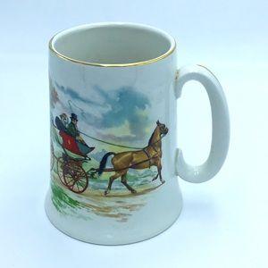 Vintage English Horse and Carriage Mug